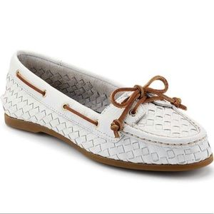 """Sperry """"Audrey"""" Woven Slip-on Boat Shoes"""
